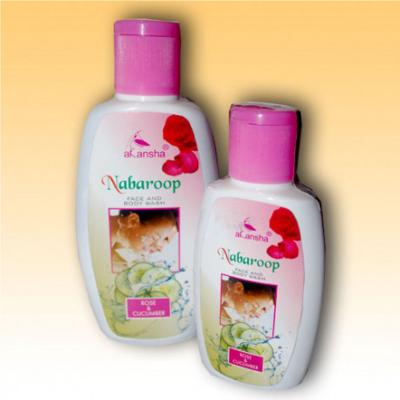 Akansha Nabaroop Rose & Cucumber Face & Body Wash 50 ml