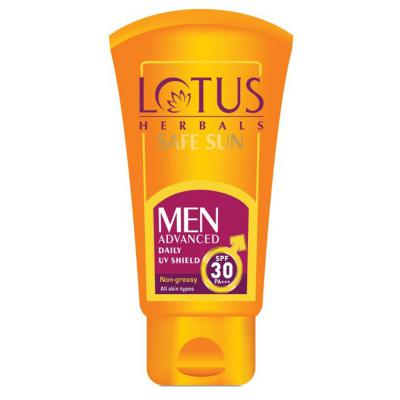 Lotus Herbals Safe Sun Men Advanced daliy UV Shield SPF 30 PA+++ - 100g