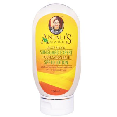 Anjali's Care Aloe Block Sun Guard Expert Normal To Dry Skin SPF 40 Lotion