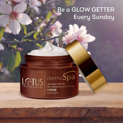 Lotus Professional dermoSpa Japanese Sakura Skin Whitening Illuminating Crème with SPF 20