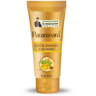 Parampara Gold and Aloevera Face Wash 100ml