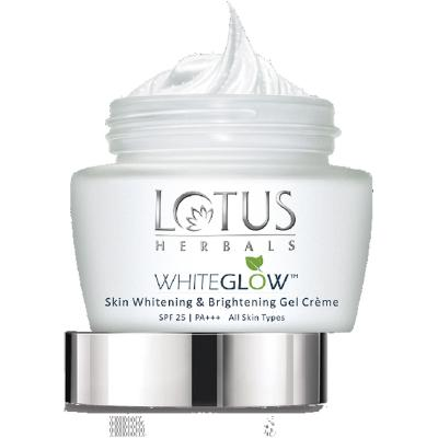 Lotus Herbals Whiteglow Skin Whitening & Brightening Gel Cream SPF 25 PA+++ - 60 gm