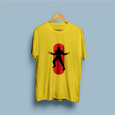 Uniq Wolverine Yellow Regular Fit Half Sleeve T-Shirt