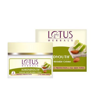 Lotus Herbals Almondyouth Almond Anti-Wrinkle Creme - 50 gm