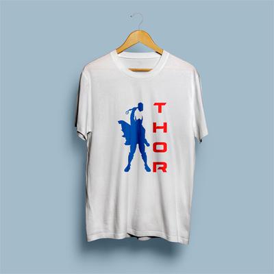 Uniq Thor White Regular Fit Half Sleeve T-Shirt