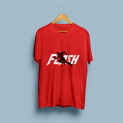 Uniq Flash Red Regular Fit Half Sleeve T-Shirt