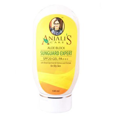 Anjali's Care Aloe Block Sun Guard Expert Oily Skin SPF 20 Gel