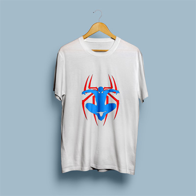 Uniq Spiderman White Regular Fit Half Sleeve T-Shirt