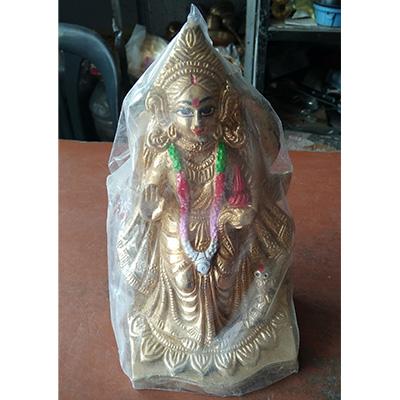 Goddess Laxmi Brass Pital Sculpture
