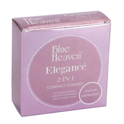 Blue Heaven Cosmetics Elegance 2 IN 1 Compact Powder - Blush (18 Grams)