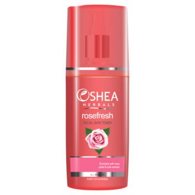 Oshea Herbals Rosefresh, Rose Petal And Tulsi Facial Skin Toner - 120 ml