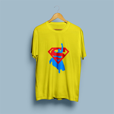 Uniq Superman Yellow Regular Fit Half Sleeve T-Shirt