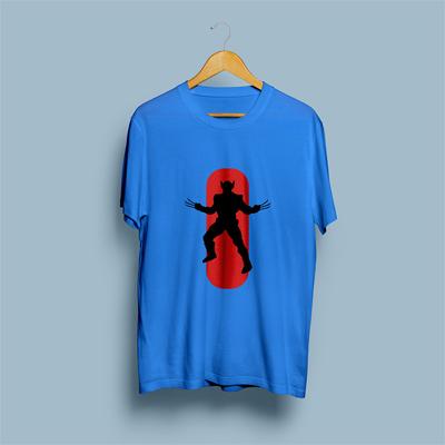 Uniq Wolverine Navy Blue Regular Fit Half Sleeve T-Shirt