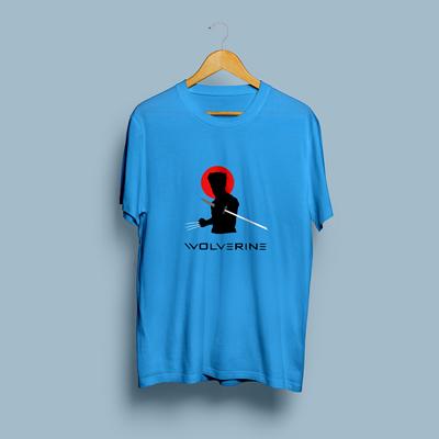 Uniq  Wolverine Blue Regular Fit Half Sleeve T-Shirt